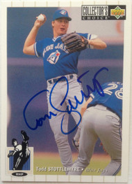 Todd Stottlemyre Autographed 1994 Collectors Choice #269