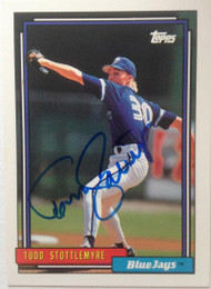Todd Stottlemyre Autographed 1992 Topps #607