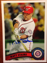 Matt Stairs Autographed 2011 Topps #US32