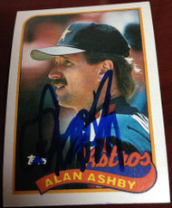 Alan Ashby Autographed 1989 Topps #492