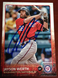 Jayson Werth Autographed 2015 Topps #6
