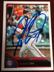 Jayson Werth Autographed 2011 Topps Lineage #69