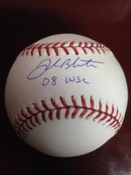 Joe Blanton Autographed ROMLB Baseball 08 W.S.C. Inscribed