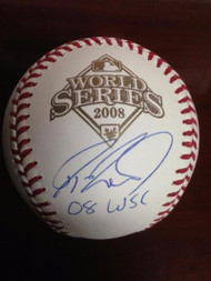 Jayson Werth Autographed Rawlings Official 2008 World Series Baseball