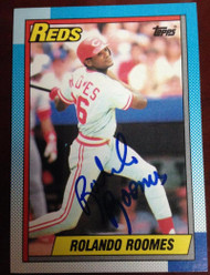 Rolando Roomes  Autographed 1990 Topps #364