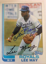 Lee May Autographed 1982 Topps #132