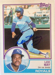 Lee May Autographed 1983 Topps #377