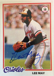Lee May Autographed 1978 Topps #640