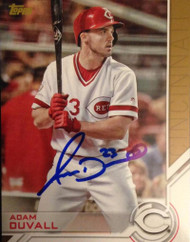 Adam Duvall Autographed 2017 Topps Series 2 Throwback Jersey #S-166