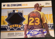 Adam Duvall Autographed 2016 Topps Update All Star Stitches Patch #ASTIT-AD