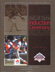 Ozzie Smith 2002 Baseball Hall of Fame Induction Day Program Stamped and Canceled