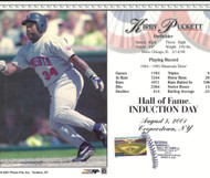Kirby Puckett Stamped and Canceled Hall of Fame Induction Card