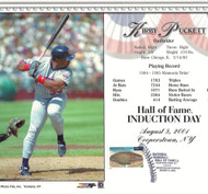 Kirby Puckett Stamped and Canceled Hall of Fame Induction Card 2