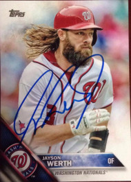Jayson Werth Autographed 2016 Topps #342