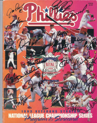 1993 Phillies NLCS Program Signed by 27 All Possible Daulton, Fregosi, Schilling