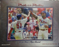 Carlos Ruiz and Ryan Howard Autographed Pride of the Phillies SGA Print