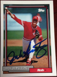Jack Armstrong Autographed 1992 Topps #77