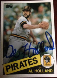 Al Holland Autographed 1985 Topps Traded #55T