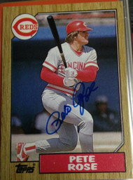 Pete Rose Autographed 1987 Topps #200