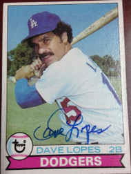 Davey Lopes Autographed 1979 Topps #290