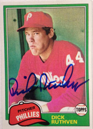 Dick Ruthven Autographed 1981 Topps #691