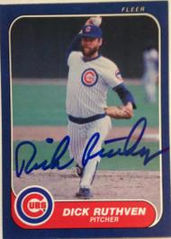 DELETE 3207 Dick Ruthven Autographed 1985 Fleer #64