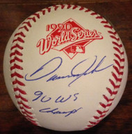 Danny Jackson 1990 WS Champs Autographed Rawlings Official 1990 World Series Baseball