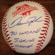 Danny Jackson 1990 World Series Champs Autographed Official 1990 World Series Baseball