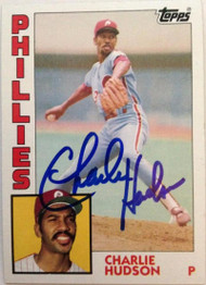 Charles Hudson Autographed 1984 Topps #432