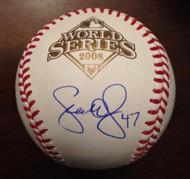 Scott Eyre Autographed 2008 World Series Baseball