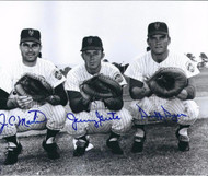 JC Martin, Jerry Grote, and Duffy Dyer Autographed 1969 Mets Catchers 8 x 10 Photo