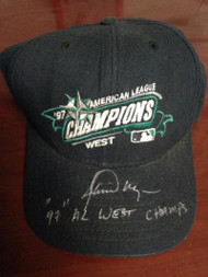 Jamie Moyer Autographed 1997 AL West Champs Seattle Mariners Cap Owned by Him