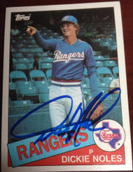 Dickie Noles Autographed 1985 Topps #149