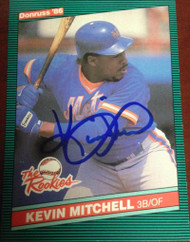 Kevin Mitchell Autographed 1986 Donruss Rookies #17