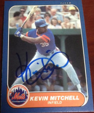 Kevin Mitchell Autographed 1986 Fleer Update #U-76