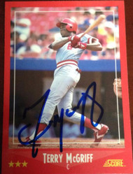 Terry McGriff Autographed 1988 Score #281