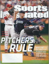 Josh Johnson and Ubaldo Jimenez Autographed 7-5-2010 Sports Illustrated No Label