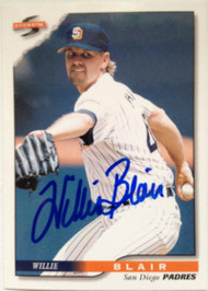Willie Blair Autographed 1996 Score #209