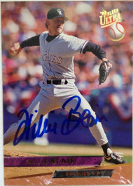 Willie Blair Autographed 1993 Fleer Ultra #342