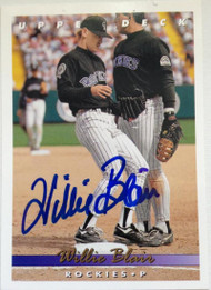 Willie Blair Autographed 1993 Upper Deck #720