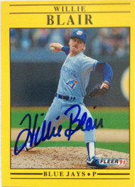 Willie Blair Autographed 1991 Fleer #170