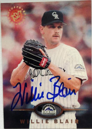 Willie Blair Autographed 1995 Stadium Club #157