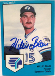 Willie Blair Autographed 1989 Pro Cards #805