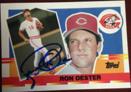 Ron Oester Autographed 1990 Topps Big #55