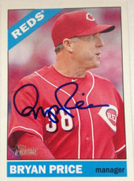 Bryan Price Autographed 2015 Topps Heritage #269
