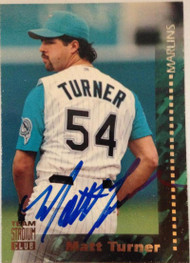 Matt Turner Autographed 1994 Stadium Club #78