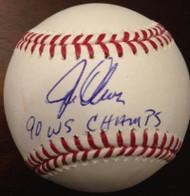 Joe Oliver Autographed ROMLB Baseball '90 WS Champs