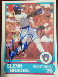 Glenn Braggs Autographed 1988 Score Young Superstars #2