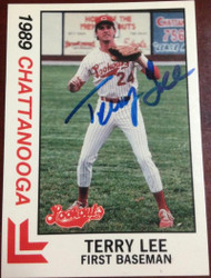 Terry Lee Autographed 1989 Best Chattanooga Lookouts #10
