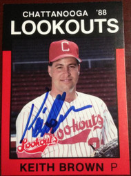 Keith Brown Autographed 1988 Best Chattanooga Lookouts #3